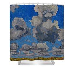 April Cumulus Shower Curtain