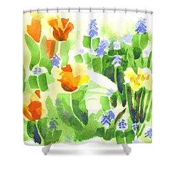 Shower Curtain featuring the painting April Flowers 2 by Kip DeVore