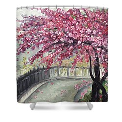 April In Paris Shower Curtain by Roxy Rich
