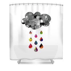 Shower Curtain featuring the mixed media April Showers- Art By Linda Woods by Linda Woods