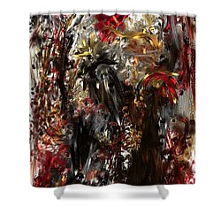 Shower Curtain featuring the digital art April Skull by Reed Novotny
