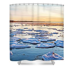 April Sunset Shower Curtain