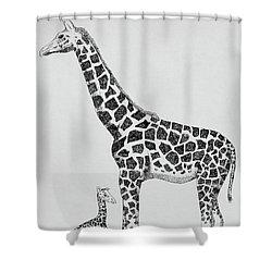 April The Giraffe Shower Curtain