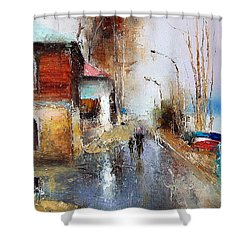 April. The River Volga Shower Curtain