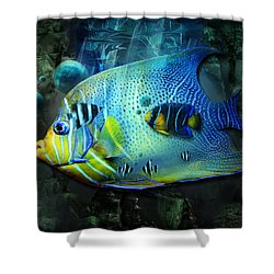 Aqua Fantasy Art World Shower Curtain