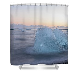 Aqua Ice Shower Curtain