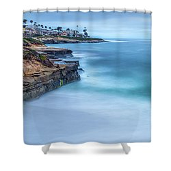 Aqua Shower Curtain by Peter Tellone