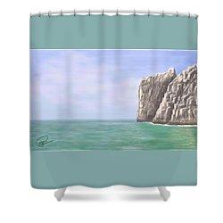 Aqua Sea Shower Curtain