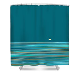Shower Curtain featuring the digital art Aqua Sea by Val Arie