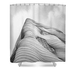 Aqua Tower Shower Curtain