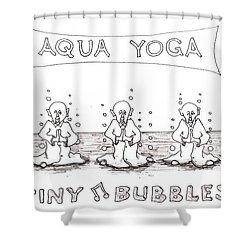 Aqua Yoga Shower Curtain