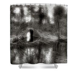 Aquaduct Monochrome Shower Curtain