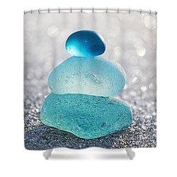 Aquamarine Ice Shower Curtain by Barbara McMahon