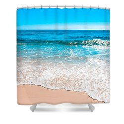 Aquamarine Island Beach Shower Curtain by Colleen Kammerer