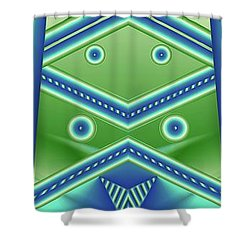 Shower Curtain featuring the digital art Aquamarine by Ron Bissett