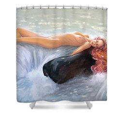 Aquamarine Sea Goddess Shower Curtain