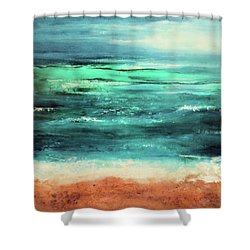 Shower Curtain featuring the painting Aquamarine  by Valerie Anne Kelly