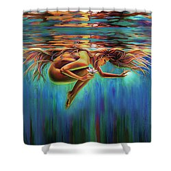 Aquarian Rebirth II Divine Feminine Consciousness Awakening Shower Curtain