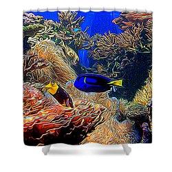 Aquarium Adventures In Abstract Shower Curtain