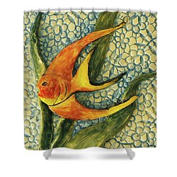 Aquarium On The Wall Shower Curtain by Itzhak Richter