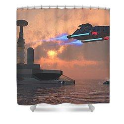 Aquarius Major Shower Curtain by Corey Ford