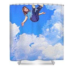 Aquarius Rising Shower Curtain by Dominic Piperata