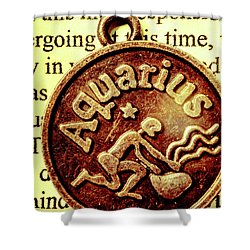 Shower Curtain featuring the photograph Aquarius Zodiac Sign by Jorgo Photography - Wall Art Gallery