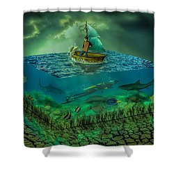 Aquatic Life Shower Curtain
