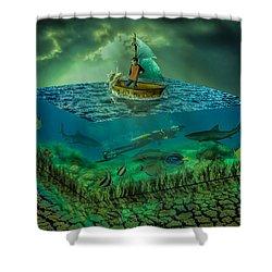 Aquatic Life Shower Curtain