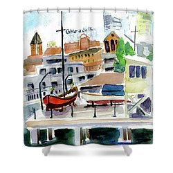 Aquatic Park1 Shower Curtain by Tom Simmons
