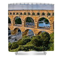 Aqueduct Pont Du Gard Shower Curtain