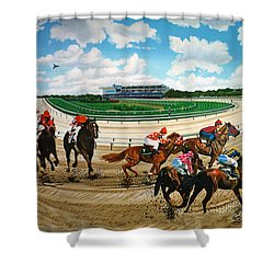 Aqueduct Racetrack Shower Curtain