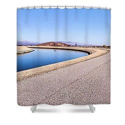 Aqueduct Sharp Turn Shower Curtain
