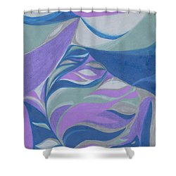 Shower Curtain featuring the drawing Aqueous by Kim Sy Ok