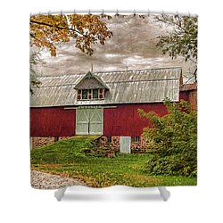 A.r. Potts Barn Shower Curtain by Trey Foerster