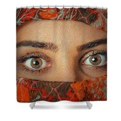 Arabian Beauty Shower Curtain