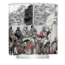 Arabian Cavalry Shower Curtain