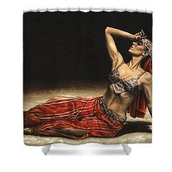 Arabian Coffee Awakes Shower Curtain by Richard Young