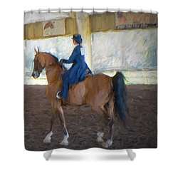 Arabian Dressage Shower Curtain