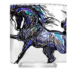 Arabian In Blue Shower Curtain