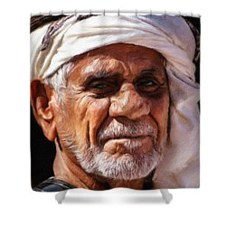 Arabian Old Man Shower Curtain by Vincent Monozlay