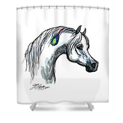 Arabian Peacock Feather Shower Curtain