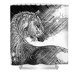 Arabian Sunrise Sketch Shower Curtain
