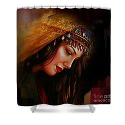 Arabian Woman 043b Shower Curtain by Gull G