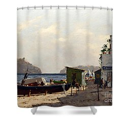 Aragonese's Castle - Island Of Ischia Shower Curtain