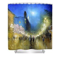Arbat Night Lights Shower Curtain
