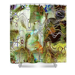 Arbitrary Color Opticality Shower Curtain