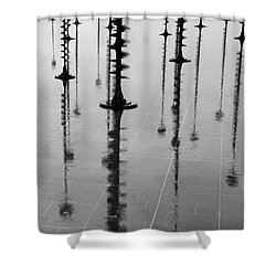 Arbres Lumineux In The Rain Paris  Shower Curtain