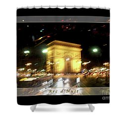 Arc De Triomphe By Bus Tour Greeting Card Poster V1 Shower Curtain by Felipe Adan Lerma