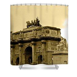 Arc De Triomphe Du Carrousel  Shower Curtain